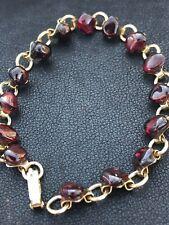 Stunning Red Stone Goldtone Vintage Bracelet