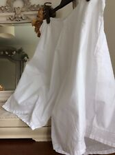 Antique French Bloomers ~ LAWN COTON/BRODERIE ~ Victorian New Old Stock, Non Porté
