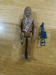 Vintage Star Wars Action Figure Chewbacca 1977 Original Weapon