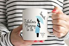 Personalised Fabulous Mummy To Be Mug/Cup - Baby Shower Present/New Baby Boy
