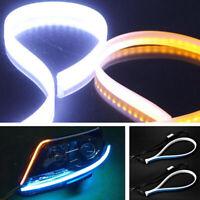 2x Ultra Thin 60cm Car Soft Tube LED Strip Light DRL Switchback Turn Signal Lamp