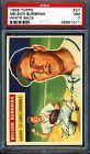 1956 Topps #27 Nelson Burbrink White Back PSA 7 NM *St Louis Cardinals*