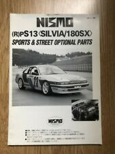 Nismo Old Logo Silvia 180SX S13 Parts Brochure Rare Vintage 240SX Kouki Zenki