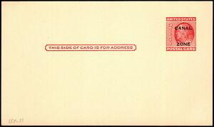Canal Zone - 1952 - 2 Cents Carmine Benjamin Franklin Postal Card # UX11 Mint