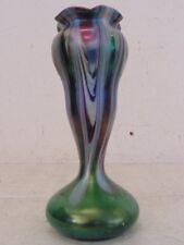 "Beautiful Vintage Antique Circa 1900 Rindskopf Bohemian Art Glass Vase 9.25"""