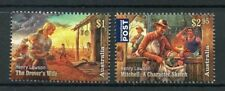 Australia 2017 MNH Henry Lawson Mitchell 2v Set Writers Literature Stamps