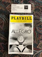 Allegro November 2014 Broadway Playbill with Ticket