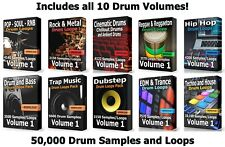 50000 Drum Loops Mega Pack WAV Loops Trap EDM Rock Ableton Cubase Logic FLStudio