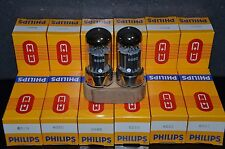 MULLARD 6080 6AS7 5998 Matched pair NOS, black plates tubes (rebranded Philips)