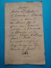 Zoé Thomassin BIENVILLE SEMALLÉ MONTUREUX correspondance lot lettres noblesse