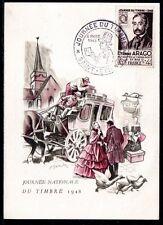 FRANCE FDC - 1948 4 JOURNEE DU TIMBRE - SAINT ETIENNE - sur CARTE POSTALE