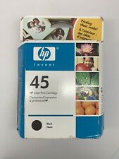 Genuine HP 45 Ink Black 51645A New Factory Sealed Box