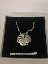 """Sea Shell PP-G24  Emblem on Silver Platinum Plated Necklace 18"""""""