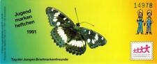 "BRD: MiNr. SDJ-MH (MiNr. 1514), Markenheftchen ""Jugend: Schmetterlinge"""