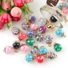 8Pcs Star Glass Ball Beads Pendant For Creative DIY Jewelry Making Accessories