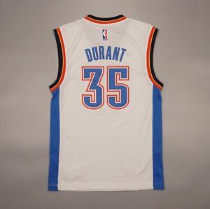 Kevin Durant #35 Oklahoma City Thunder NBA Adidas Jersey White Size XS Shirt
