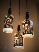 Jack Daniels Upcycled Bottle Ceiling Lamp Pendant Light Shade Chandelier
