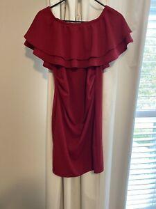 Pink Blush Red Maternity Dress - size Medium