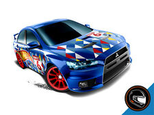 Hot Wheels Cars - 2008 Lancer Evolution Blue