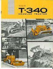 Ih New International T 340 Crawler Tractor Brochure Loader Bulldozer Backhoe