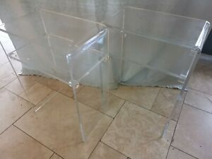 Pair of Clear Acrylic side tables