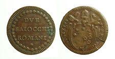 pcc1645_3) ROMA - Pio VI (1775-1799) - 2 Baiocchi A. XVIII  Munt. 110 CU