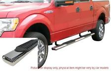 """FORD F150 2004-2008 CREW CAB 4"""" STAINLESS OVAL SIDE STEP NERF BAR RUNNING BOARD"""