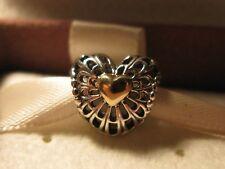 Genuine Authentic  Pandora Vintage Openwork Heart Charm # 791275