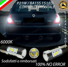 COPPIA LUCI RETROMARCIA 15 LED P21W BA15S CANBUS RENAULT CLIO II NO ERROR