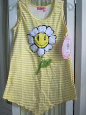 NWT HAVENGIRL girls smiley sunflower yellow white striped tunic Sz 10/12 $49