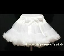 Pageant Pure White Tutu FULL Skirt Dance Party Dress For Girl Adult Women Lady