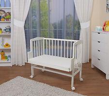 WALDIN bébé Lit d'appoint, Berceau, lit bébé, blanc peint, réglable en hauteur