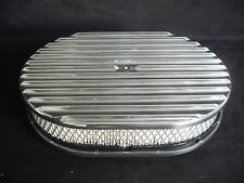 AIR FILTERS 12 x 2 INCH FULL FINNED POLISHED ALUMINIUM TO SUIT 5 1/8 NECK CARBI
