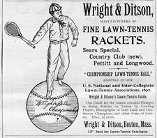 WRIGHT & DITSON MANUFACTURERS OF FINE LAWN-TENNIS RACKET SEARS SPECIAL BOSTON