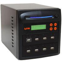 SySTOR 1-7 Standalone Multiple USB Port Duplicator Flash Drive Cloner Sanitizer