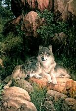 "Larry Fanning ""Soul Mates"" - Gray Wolves - SN Limited Edition Lithograph"
