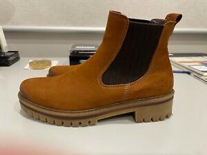 ARA Jackson 21 Nuss Nubuck Chelsea Boots Size EU 39