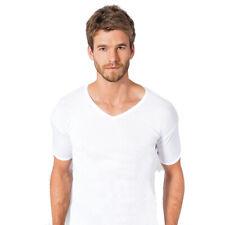 2er Herren Unterhemd T-Shirt mit V-Ausschnitt 100% Baumwolle Herrenunterwäsche