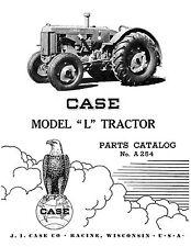 Case L Tractor Parts Catalog Book Reproduction
