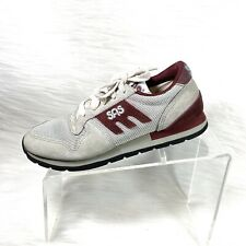 SAS Women's Sneaks Gray / Burgundy Suede Mesh Lace Up Comfort Shoes Size 7 M