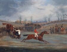 "1845- Henry T Alken, steeplechase, Horse racing, antique, 14""x11"" Art Print"