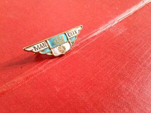 Vintage Football Enamel Badge Manchester City Coffer Northampton