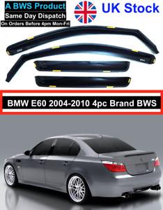 BMW 5 E60 Saloon 4-doors 2004-2010 4-pc BWS Wind Deflectors UK Stock