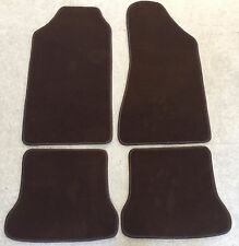 Autoteppiche Fußmatten für Audi Typ 85 10V Ur-quattro Velours 4tlg. dunkel Braun