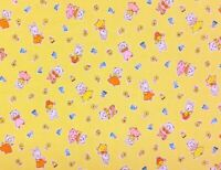 RPFMD298A Rabbits Bunny Cats Kitty Retro Feedback 30's Style Cotton Quilt Fabric