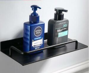 Bathroom Accessories Black Shower Caddy Hook Storage Rack Free Punch Towel Bar