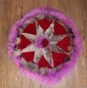Art floor decor / Fur rug / natural fur / Fox / Arctic fox / Sheepskin