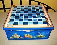 Disney Toy Story 3 Checkers 8 Spiele Set Holzbox Schublade Schach Bingo Karten
