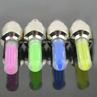 NEW VALVE DUST CAP TIRE TYRE COLOUR LED NEON CAR BIKE WHEEL SPOKE LIGHTS SAFETY