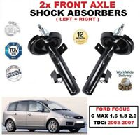 FRONT LEFT RIGHT SHOCK ABSORBERS for FORD FOCUS C MAX 1.6 1.8 2.0 TDCi 2003-2007